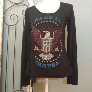 SALE Rebel Republic long sleeved t- shirt XS